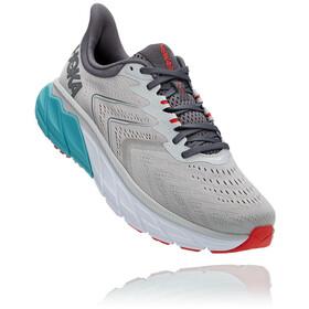 Hoka One One Arahi 5 Wide Shoes Men, grijs/turquoise